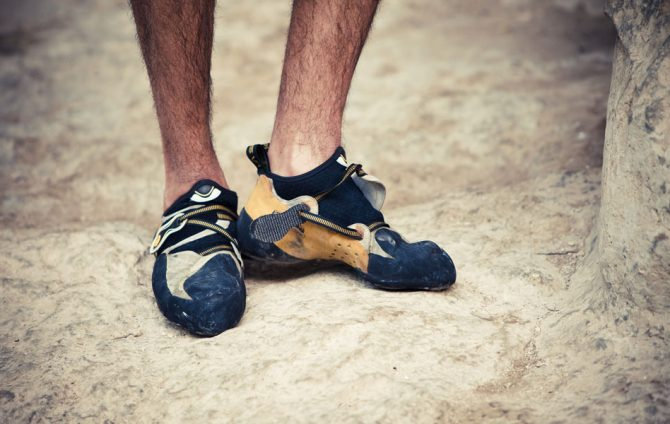 How To Stretch Rock Shoes