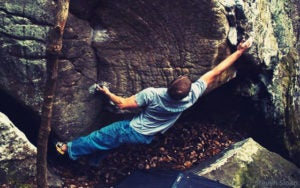 Problems at Rocktown range from V-easy to V13.