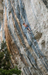 Anak Verhoeven, of Belgium, on the first ascent of Sweet Neuf (9a+/5.15a) in France. Photo: Sébastien Richard.