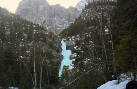 Ice Climber Falls 100 Feet in Banff National Park