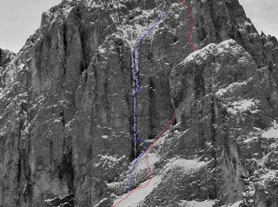 New Mixed Route in Italian Dolomites