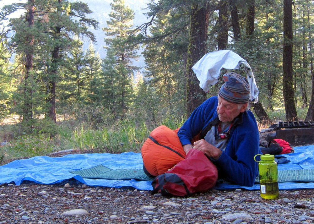 Fred Beckey, waking up for another day of climbing. Photo courtesy of Mark Kroese.