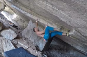 Alberto Rocasolano on Wild Roof Boulder Problems