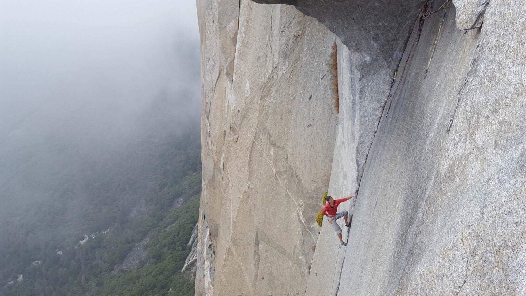 Yusuke Sato sending the Great Roof pitch. Photo: Courtesy of Keita Kurakami.