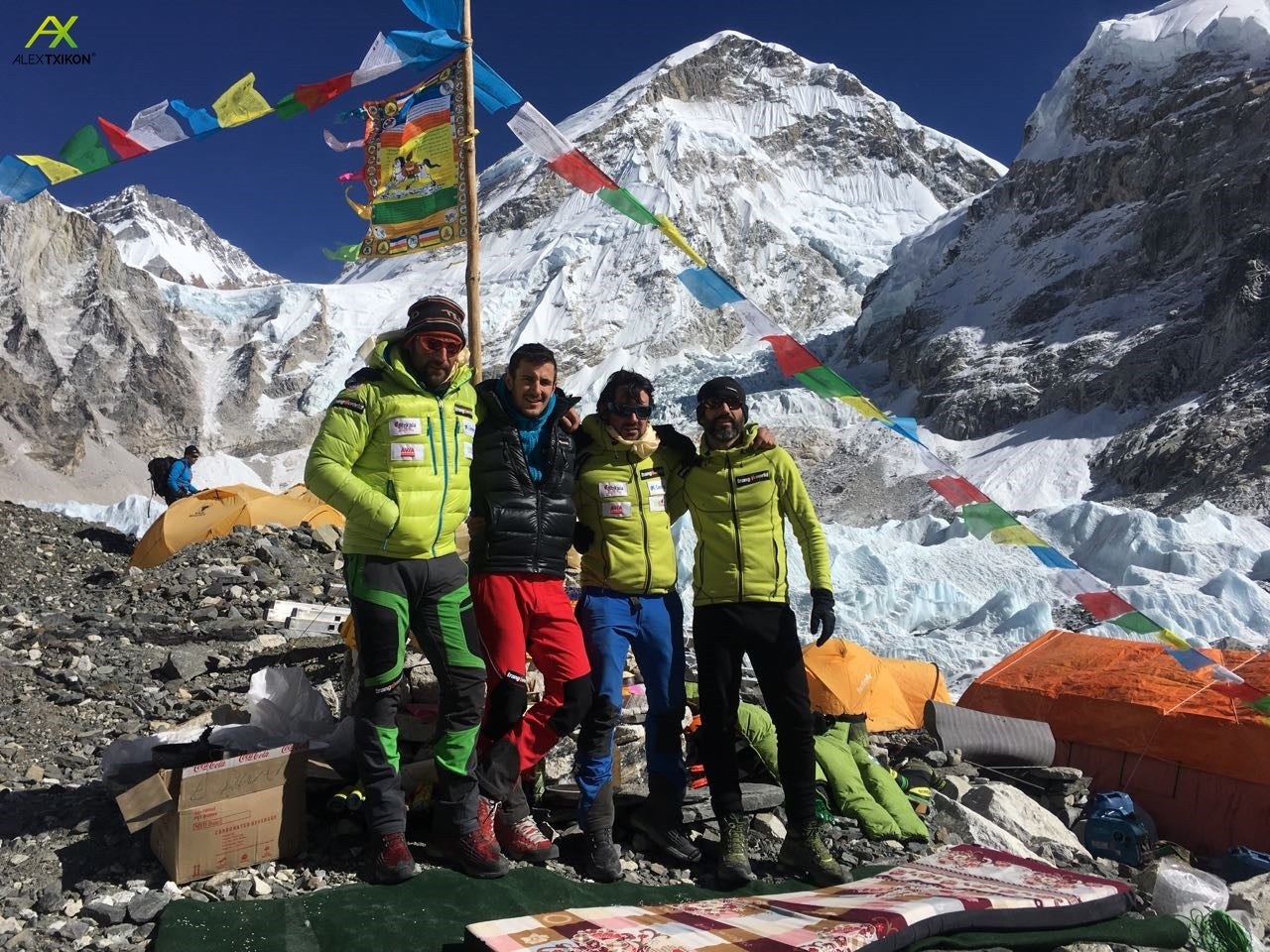 Txikon and other members of last winters expedition. Photo © Alex Txikon.