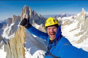 Markus Pucher Solos Cerro Pollone in Patagonia in Winter