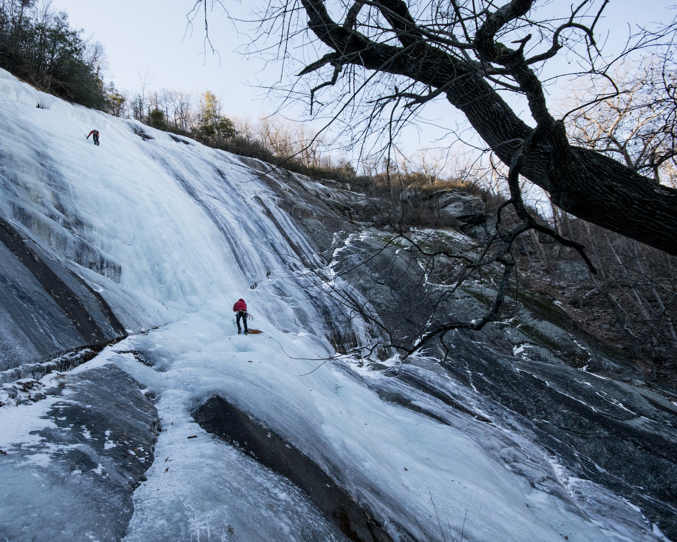 Ice flows out in Asheville, North Carolina. Photo: Alex O'Neill.