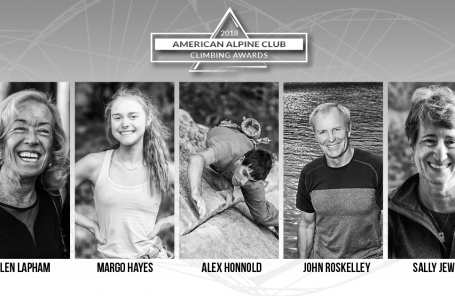 Honnold and Hayes Among 2018 American Alpine Club Climbing Award Recipients