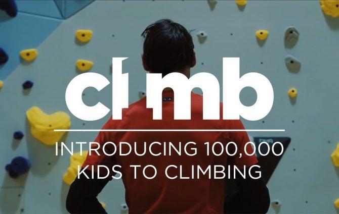 1Climb Introducing 100,000 kids to climbing