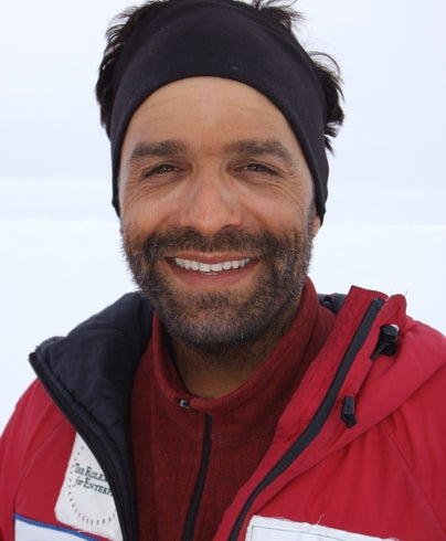 Lonnie Dupre during his 2005 expedition to the North Pole. Photo: Lonnie Dupre.