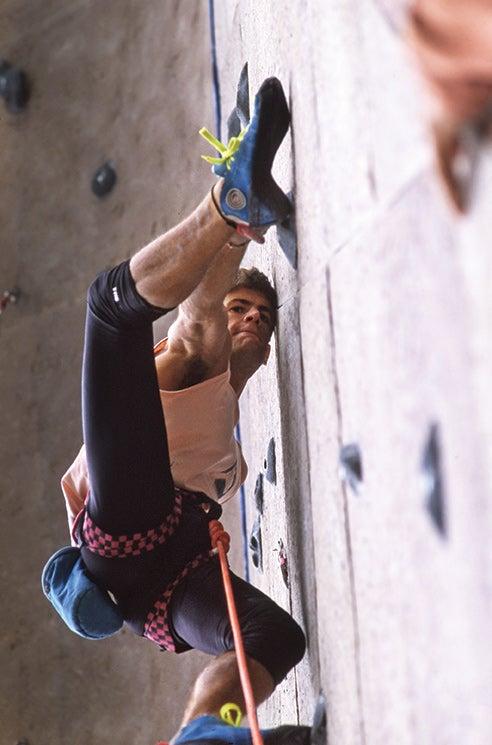 Christian Griffith, a leading sport-climbing activist, as well as Ron Kauk, Scott Franklin and Jason Stern, made finals among Americans. Photo: Michael Kennedy.